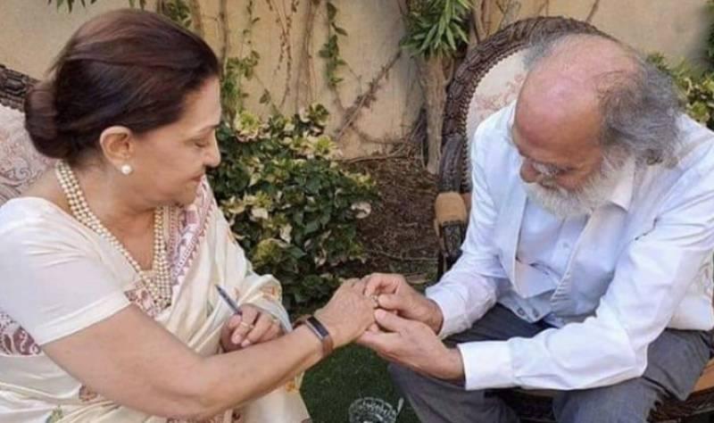 Manzar Sehbai, Samina Ahmed thank fans for congratulating them on their recent nuptials