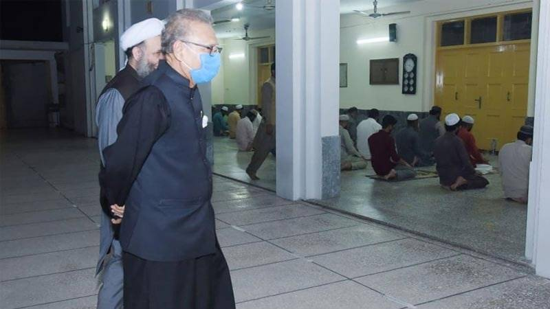President visits number of mosques, reviews precautionary arrangements to control spread of COVID-19