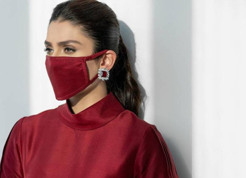 Ayeza Khan urges fans to make their own face masks at home
