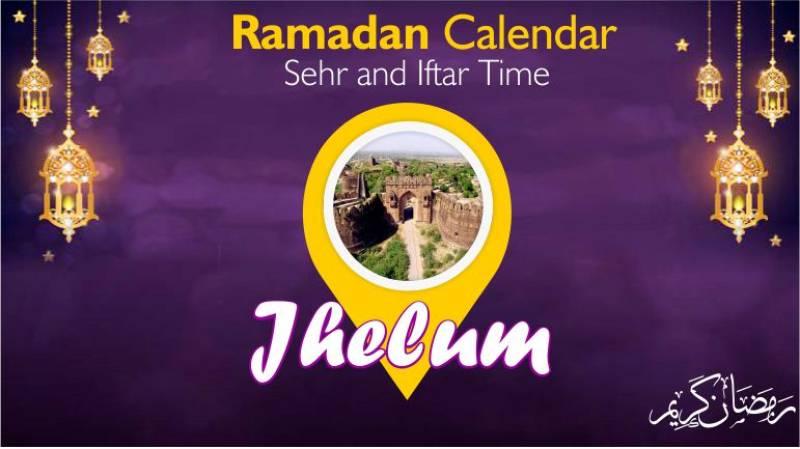 Ramadan Pakistan: Sehri Time Jhelum, Iftar Time Jhelum, Ramadan Calendar 2020