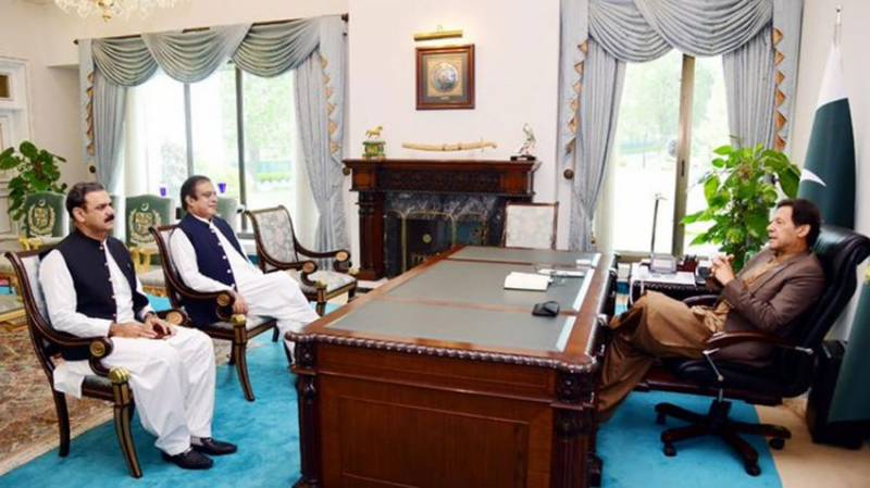 New Info minister, Special Assistant call on PM Imran