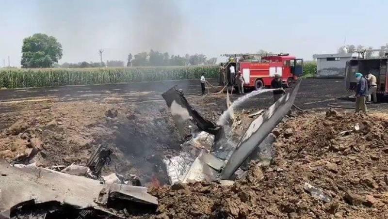 Indian fighter jet crashes near Hoshiarpur