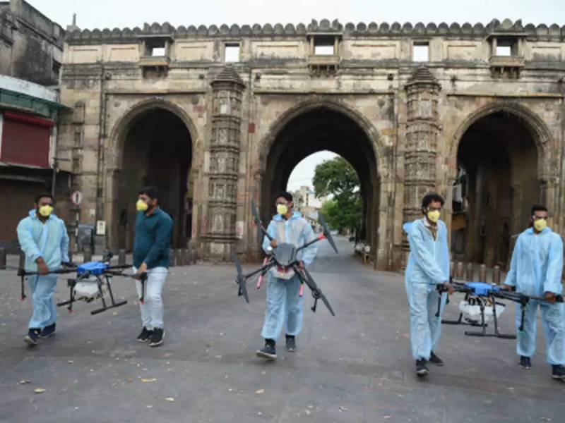 Drones disinfect Indian coronavirus hotspot after lockdown clashes