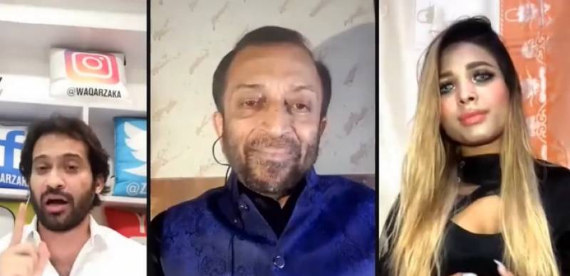 This girl just proposed Farooq Sattar in a live chat show – VIDEO