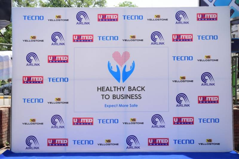 Governor Sarwar marks at Tecno's donation ceremony