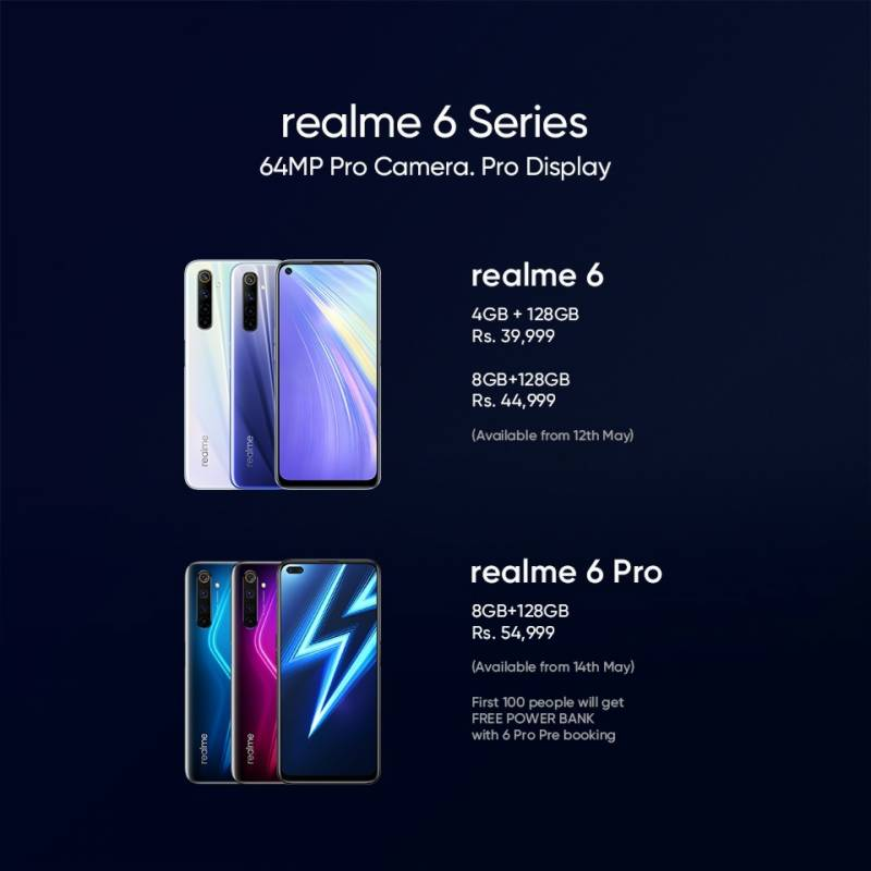 realme 6 and 6 Pro launched in Pakistan, Price, Sale Info