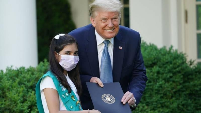 Pakistani American girl among corona crisis heroes honored at White House