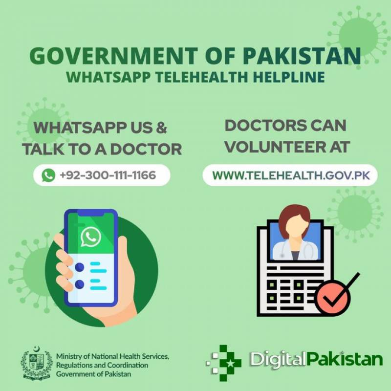Pakistan launches Covid-19 Telehealth Portal, connecting patients to doctors
