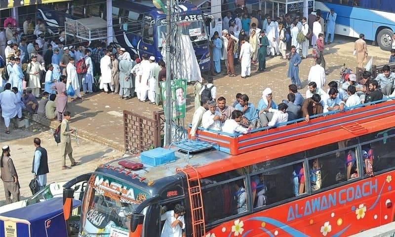 Public transport resumes in Punjab, KP