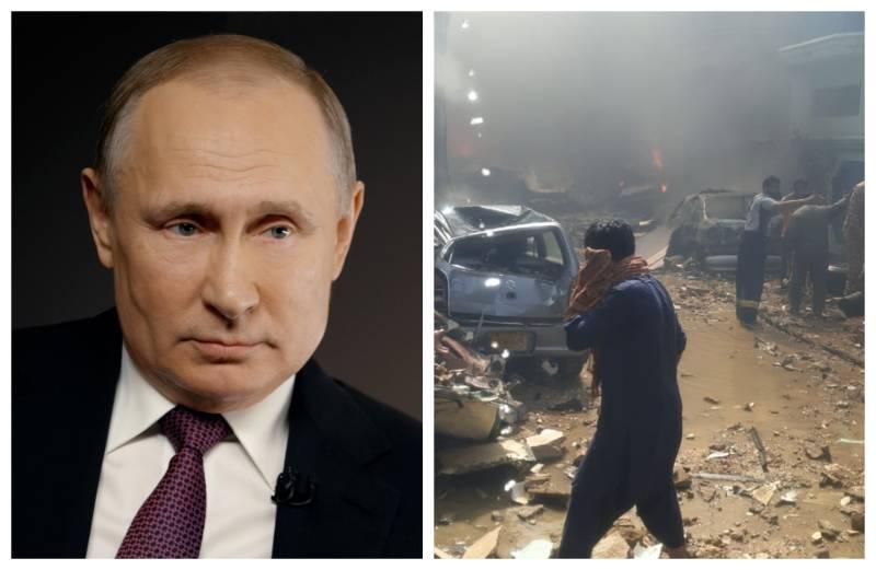 Russia's Putin condoles loss of lives in Pakistan plane crash