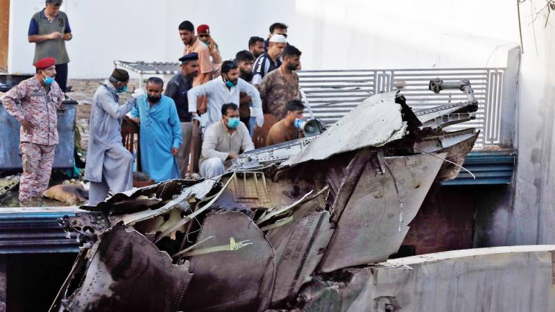 Foreign experts visit PIA plane crash site in Karachi