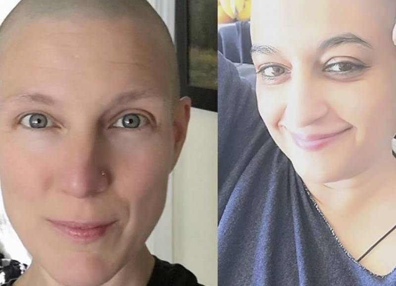Nadia Jamil's best friend goes bald to support her