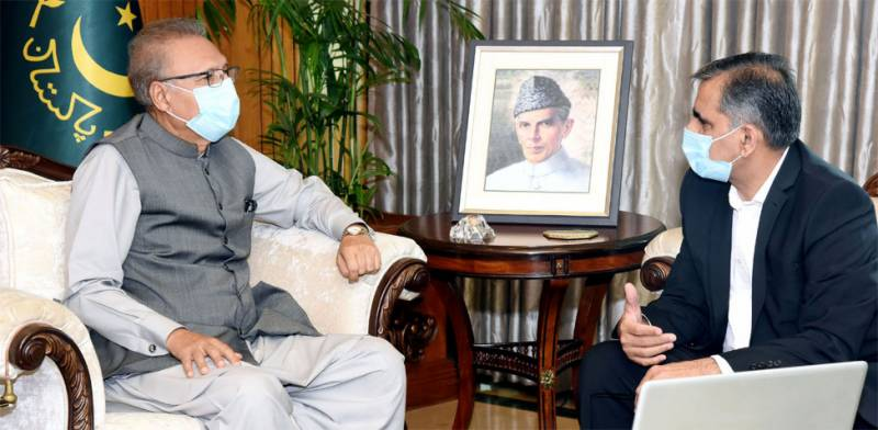 PIA CEO briefs President Alvi regarding investigation into plane crash in Karachi