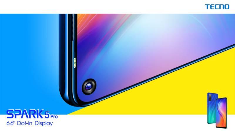 "TECNO launches SPARK 5 Pro: 5 Cameras, 5000mAh Battery & 6.6"" HD Display"