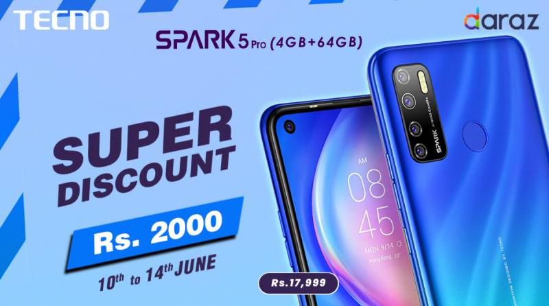"Discounted Spark 5 Pro: TECNO's Pre-Hype Offer for DARAZ ""Mobile Week"""
