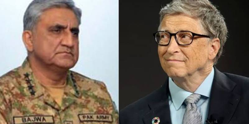 COAS Bajwa, Bill Gates discuss COVID-19 situation, polio eradication derive in Pakistan
