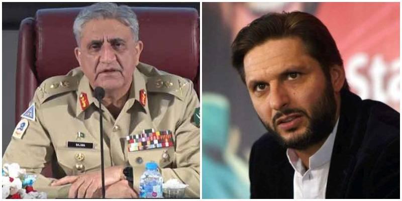 COAS Bajwa inquires after health of Shahid Afridi
