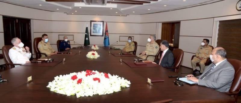 CJCSC Gen Nadeem, three Service Chiefs appreciate ISI's efforts for national security