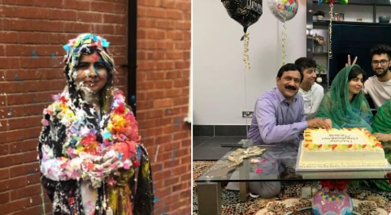Malala Yousafzai celebrates graduating from Oxford