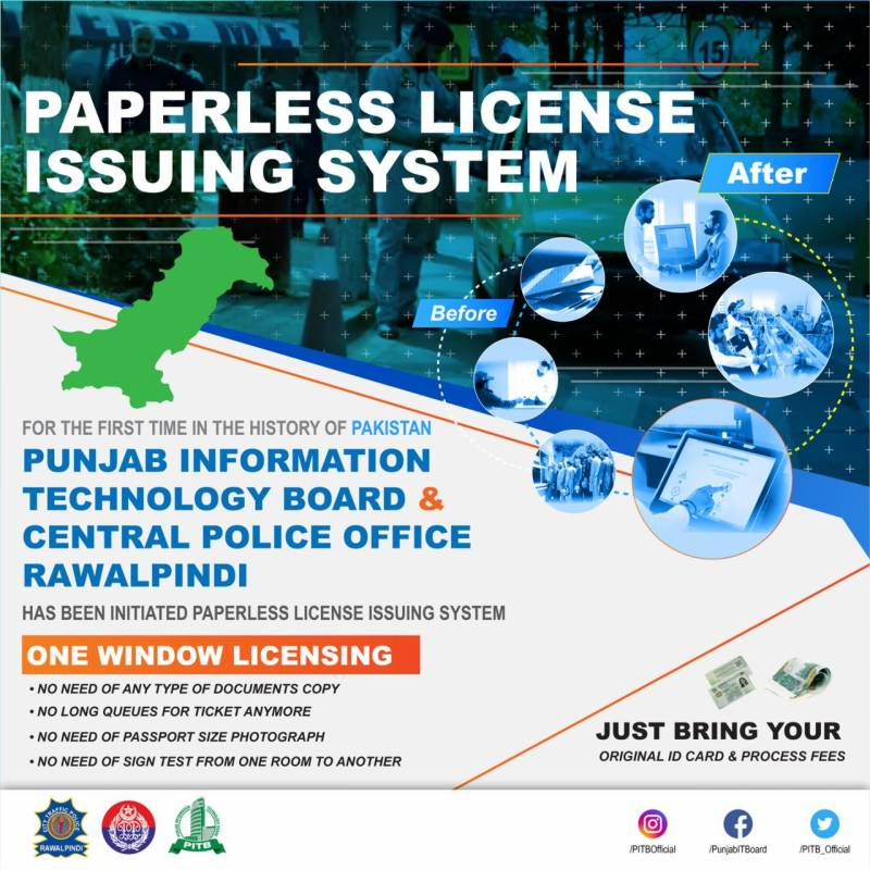 Paperless driving license issuing system goes live in Rawalpindi