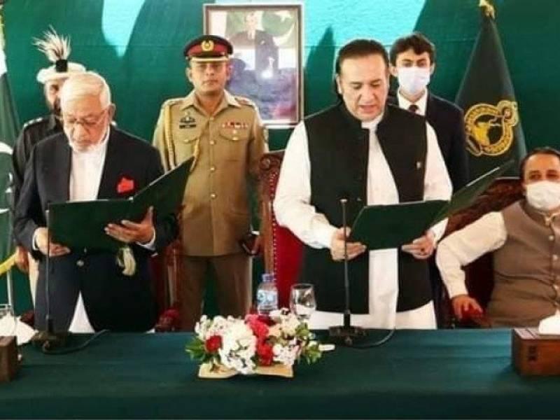 Ex-DIG police Mir Afzal takes oath as caretaker Gilgit-Baltistan CM
