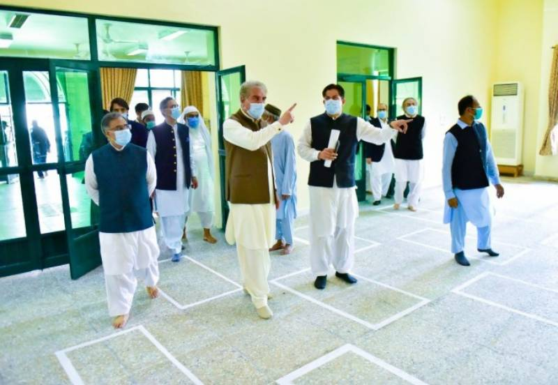 FM Qureshi inaugurates mosque rebuilt at foreign ministry