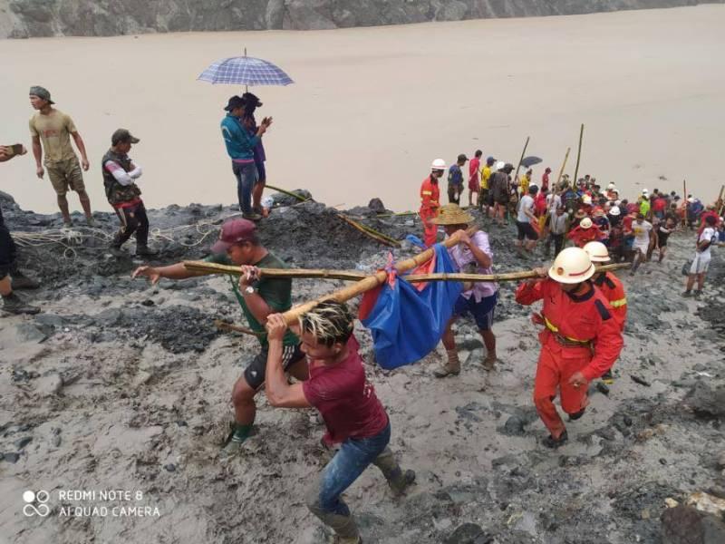 At least 126 jade miners buried in Myanmar landslide