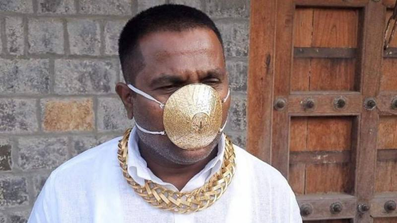 $4k solid gold face mask for 'protection' against COVID-19