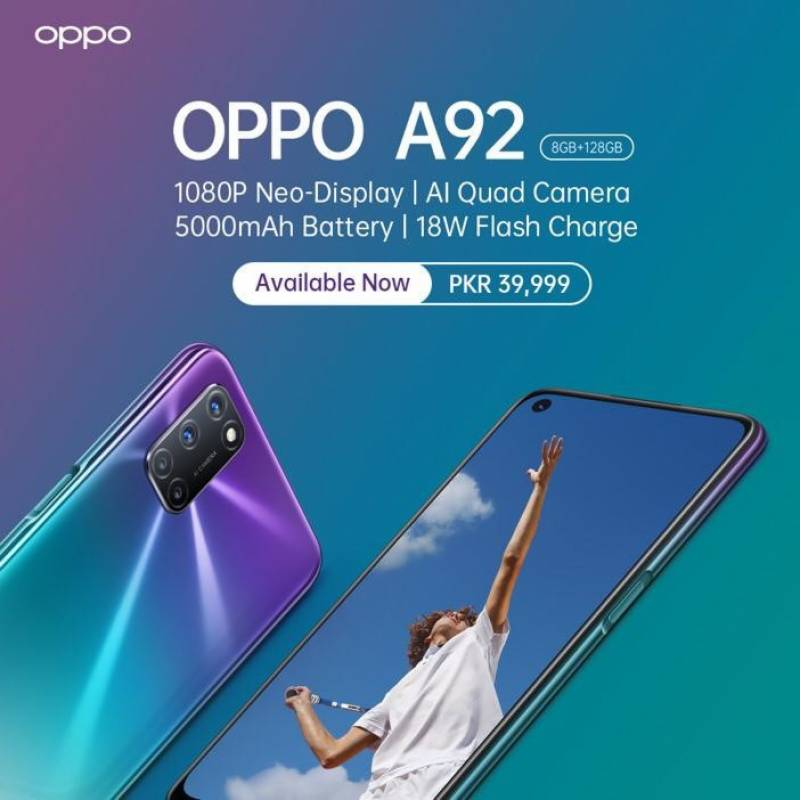 OPPO redefines A series user experience with OPPO A92