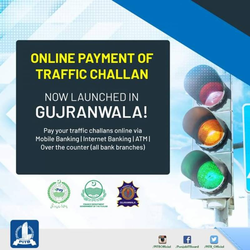 After Lahore, online traffic challan payment facility launched in Gujranwala