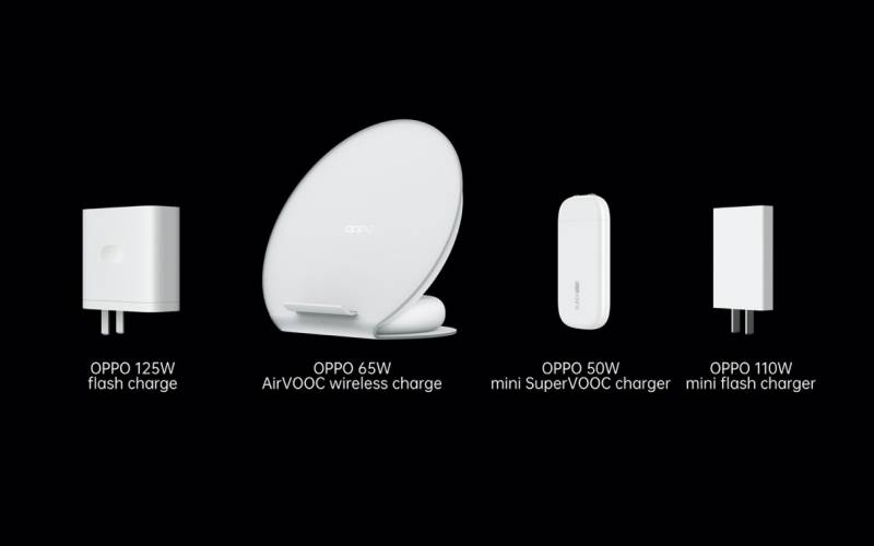 OPPO launches 125Wflash charge, 65W AirVOOCwireless flash chargeand50W mini SuperVOOC charger