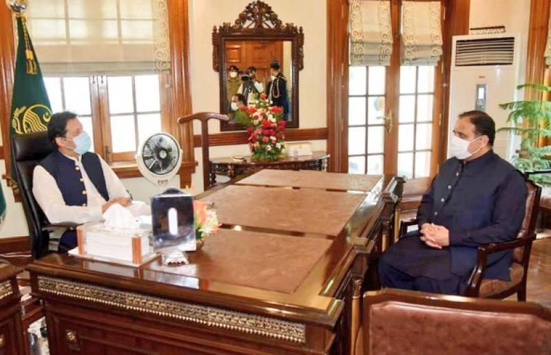 PM Imran meets CM Buzdar in Lahore