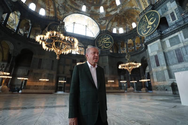 Erdogan visits Turkey's Hagia Sophia after reconversion to mosque