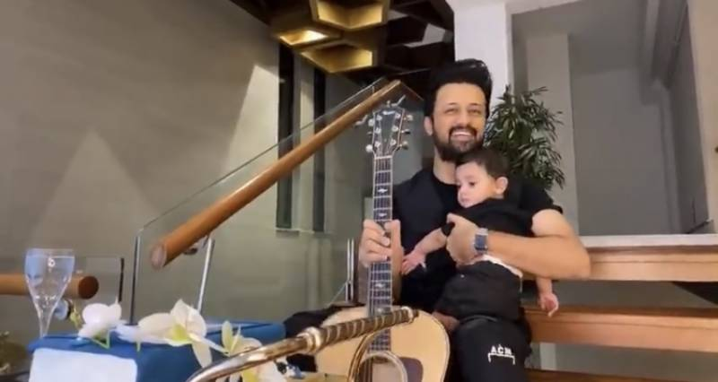 Atif Aslam's latest video with youngest son is sure to capture your heart