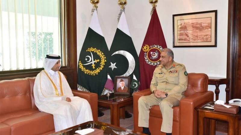 Qatari envoy meets COAS Bajwa, hails Pakistan's peace efforts
