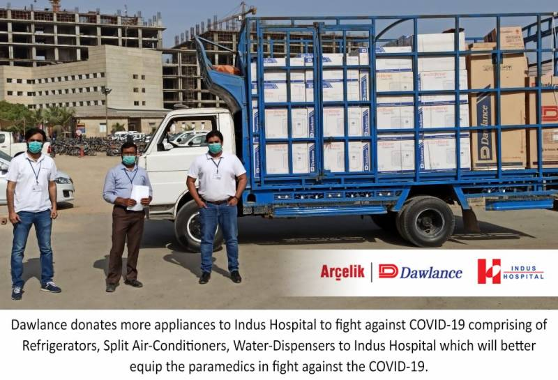 Dawlance donates more appliances to Indus Hospital to fight against COVID