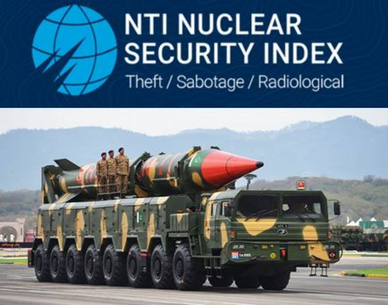 US ranks Pakistan as most improved country in nuclear security