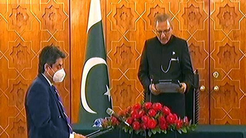 Barrister Farogh Naseem sworn in as law minister for third time