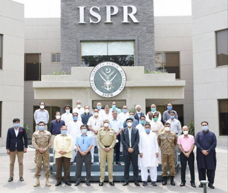 Delegation of Kashmiri journalists visits ISPR