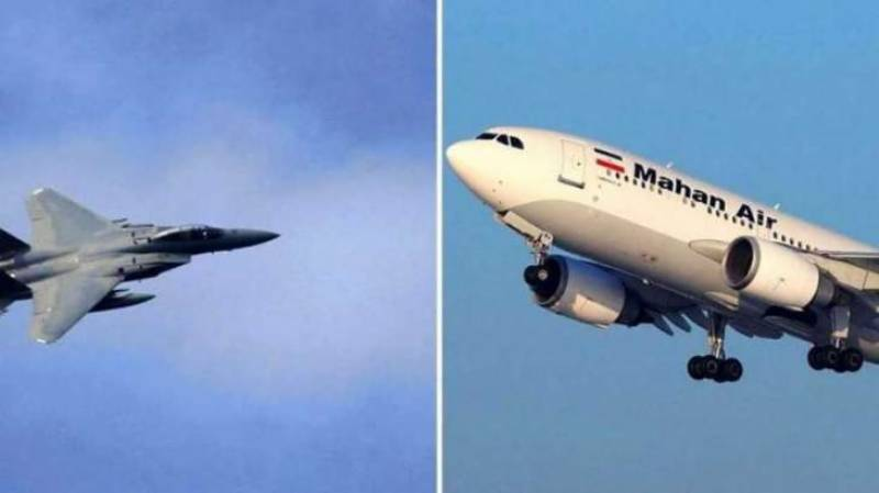 Passengers panicked as US fighter jets fly close to Iranian plane