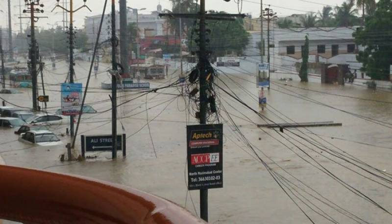 Three electrocuted to death after heavy rains in Karachi