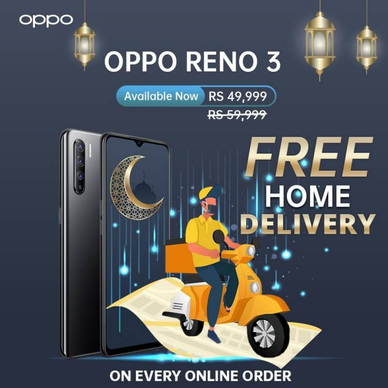 If you own a Reno 3, OPPO gives you the chance to win another one absolutely free this Eid