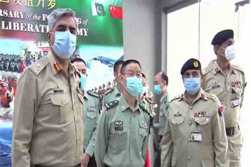 Chinese defence attaché visits ISPR to commemorate PLA's 93rd founding anniversary