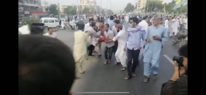At least 40 injured in grenade attack near JI's Kashmir rally in Karachi