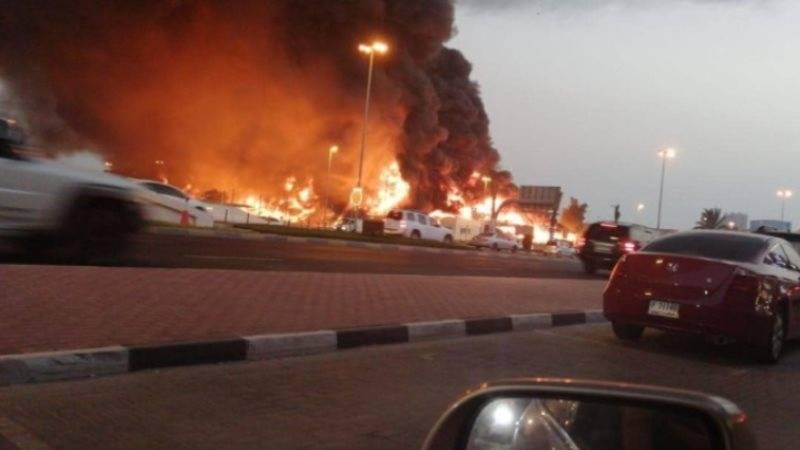 Huge fire breaks out in UAE's Ajman market