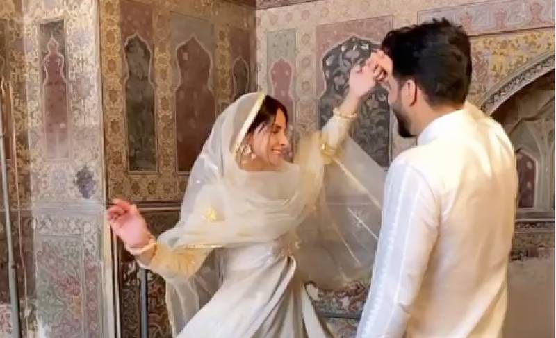 Saba Qamar & Bilal Saeed respond to criticism over shooting in Wazir Khan Mosque