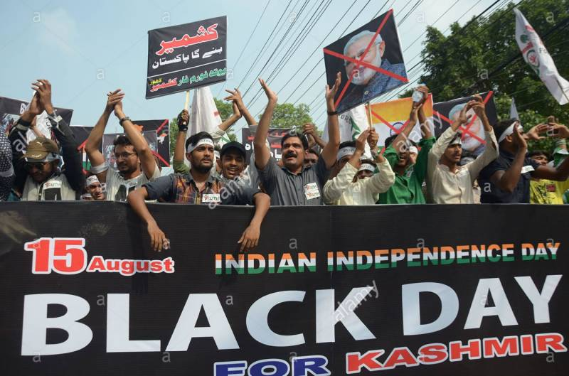 Kashmiris observing India's independence day as Black Day across the world today