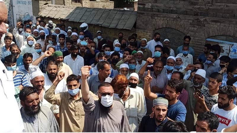 Blasphemous remarks trigger protests across Occupied Kashmir's Jammu region