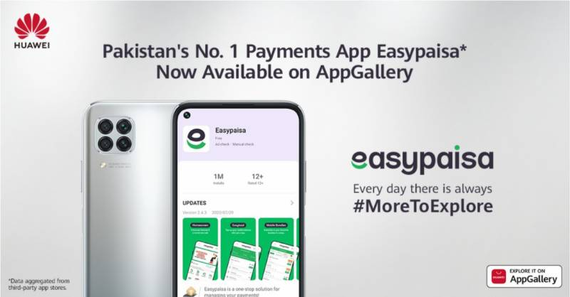 Huawei AppGallery unveils payments App Easypaisa