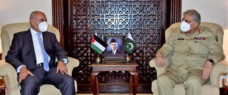 Jordan envoy meets COAS Bajwa, hails Pakistan's efforts for peace